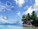 Heart-shaped bubbles