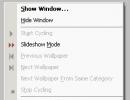 Tray icon pop-up menu