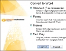 Options for Word file format convert