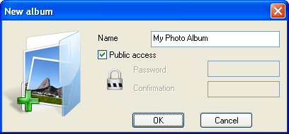 Create Album Screen