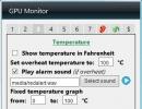 Temperature Settings and Alerts