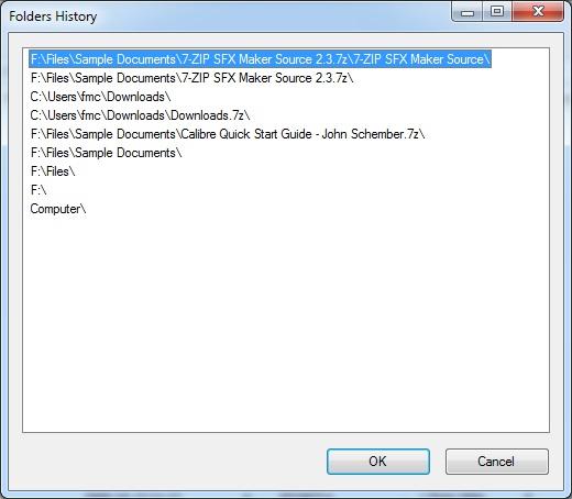 Folders History