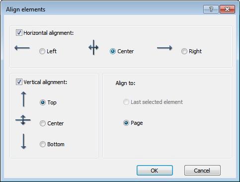 Align Options