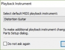 Playback instrument