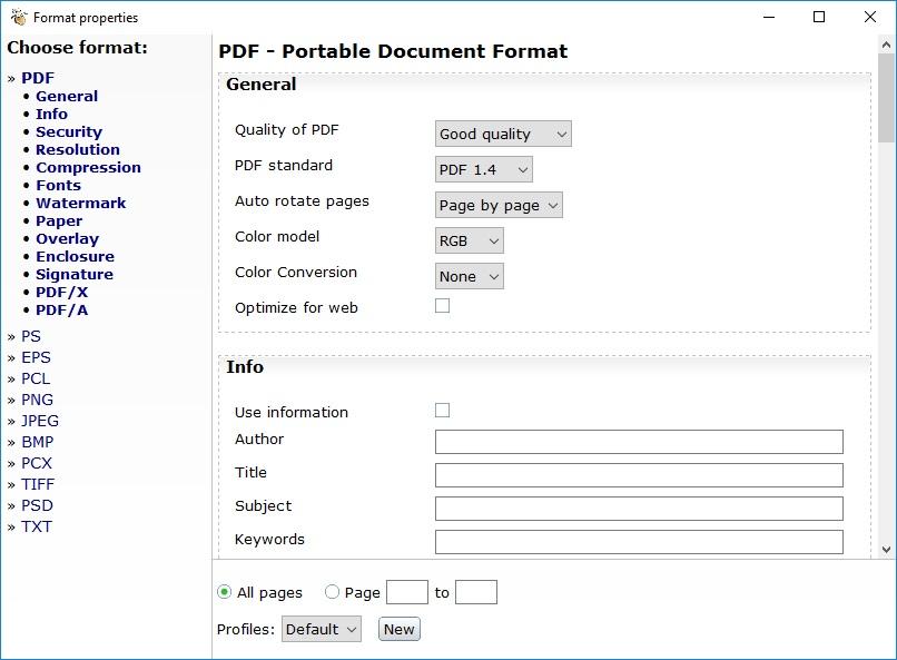 Format Properties