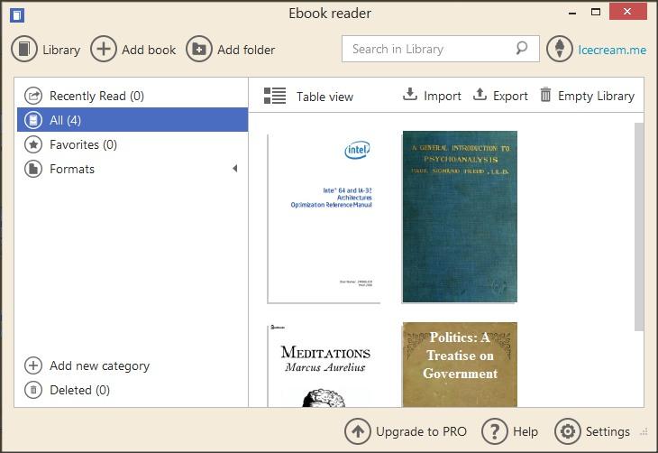 Bookshelf View