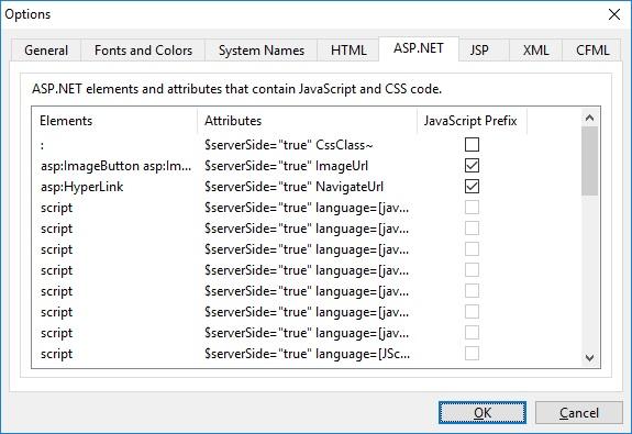 ASP.NET Options