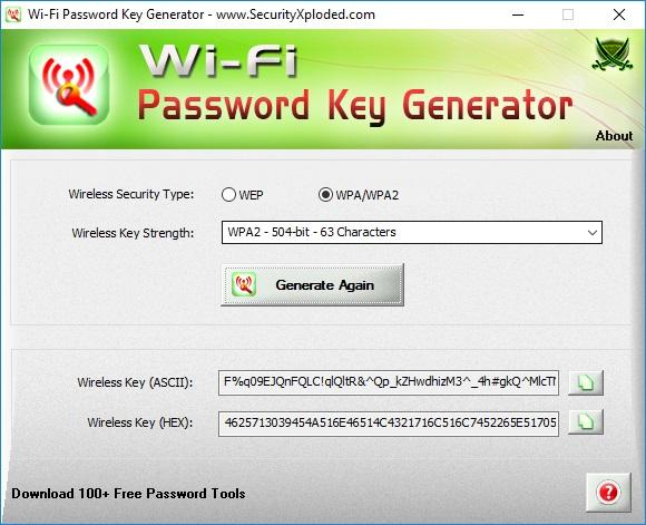 Create a 504-Bit WPA Key