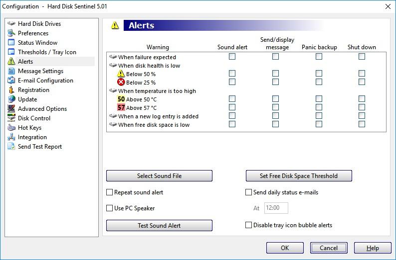Configuring alerts