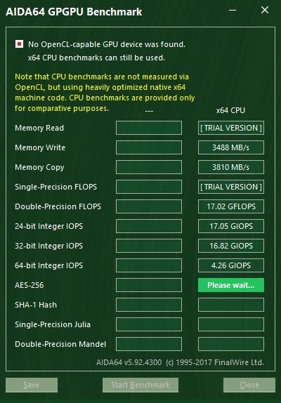 GPGPU benchmark