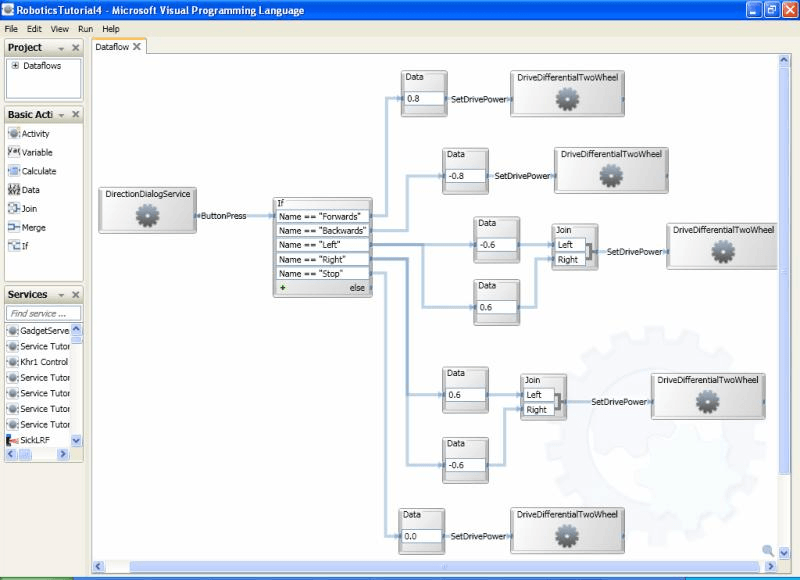Microsoft Robotics Developer Studio 2008 screenshot