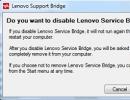 Enable/Disable Service Bridge