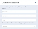 Acronis Account Creation