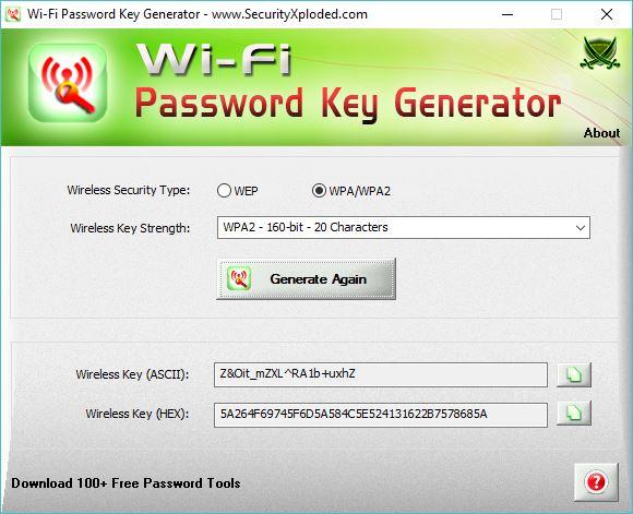 Generating WPA/WPA2 Key