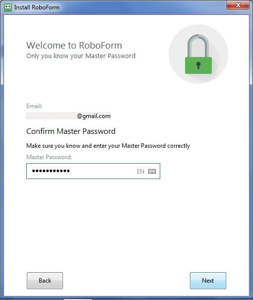 Master Password