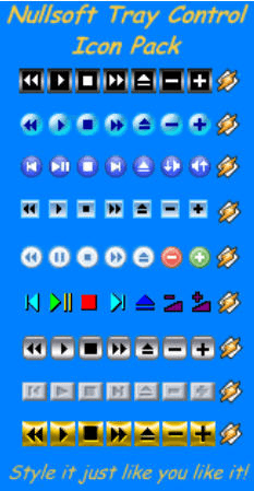 Nullsoft Tray Control Icon Pack - General view