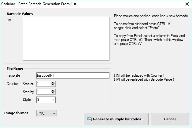 Batch Generate From List