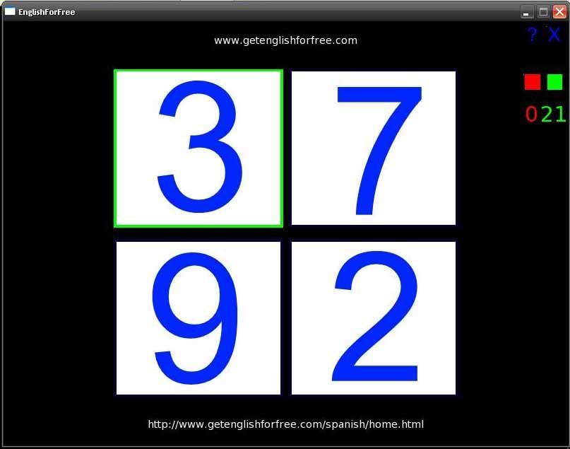 English for Free-Numbers
