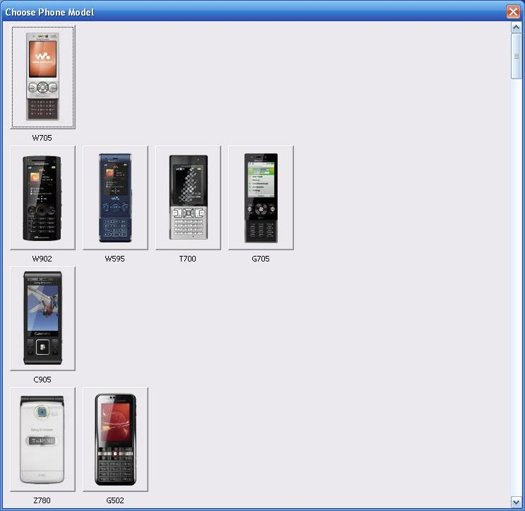 Choosing a phone model