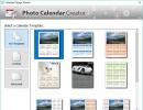 Selecting Calendar Template