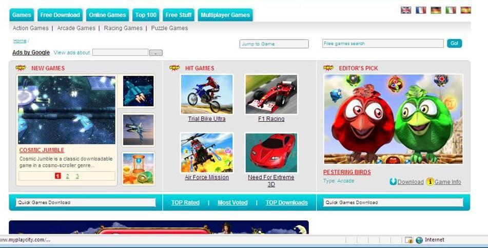 MyPlayCity.com Main Page