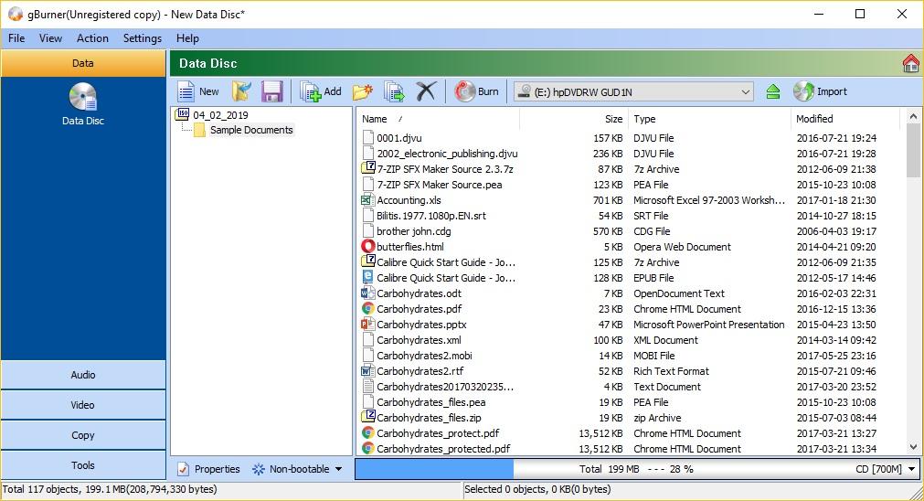 Create Data Disc