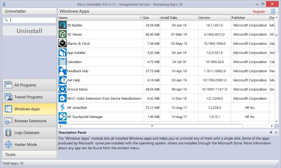 Windows Apps List