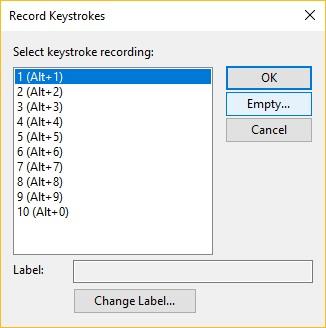 Record Keystrokes