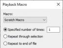 Macro Playback