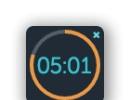 Mini timer (desktop app) dark theme version 2.2