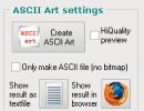Ascii Art Settings