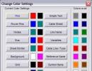 Color settings