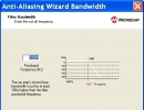 Anti-aliasing wizard bandwidth