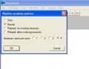 Rhythm analysis option.
