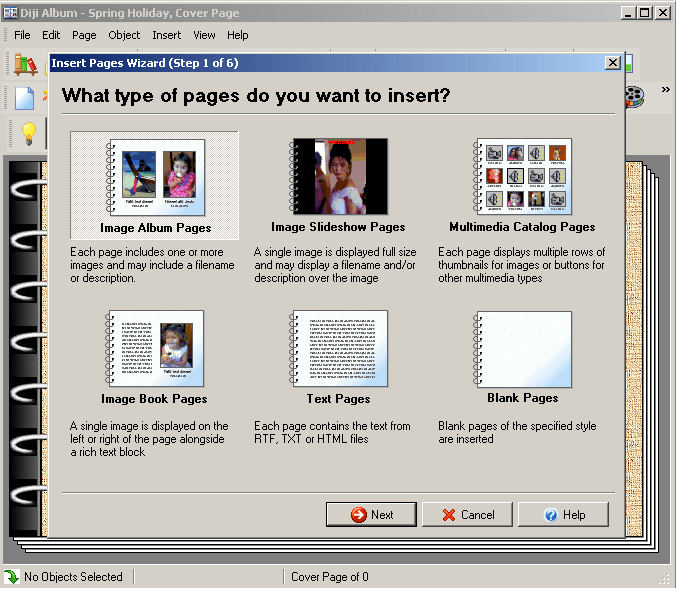 Selecting a Page Type