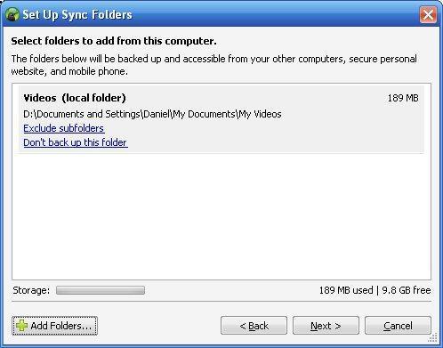 Set Up Sync Folders