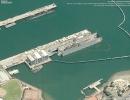 US Attack Submarine in Drydock