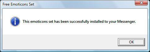 Successful installation message.