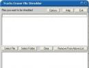 Built-in file shredder