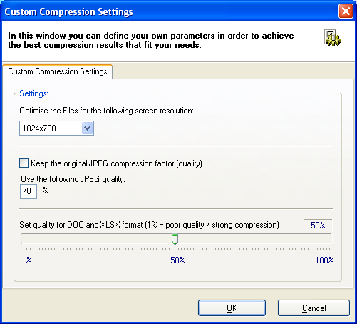Custom Compression Settings