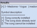 Results after importing a song