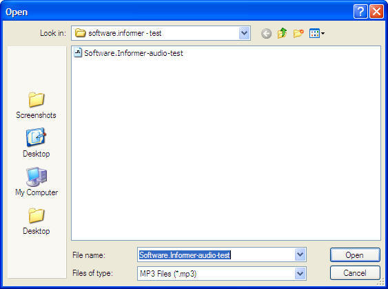 Add Audio Files Window
