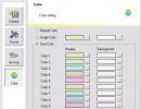 Color setting window