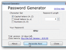 Generating a password with 4 capital letters.