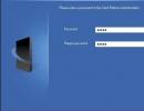 Setting admin password
