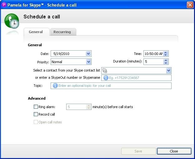 Call scheduler