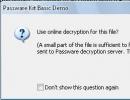 Online Decryption